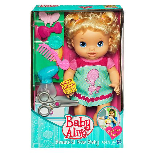 Baby Alive Beautiful Now Baby Doll Blonde Hasbro Toys R Us Interactive Baby Dolls Baby Alive Baby Dolls