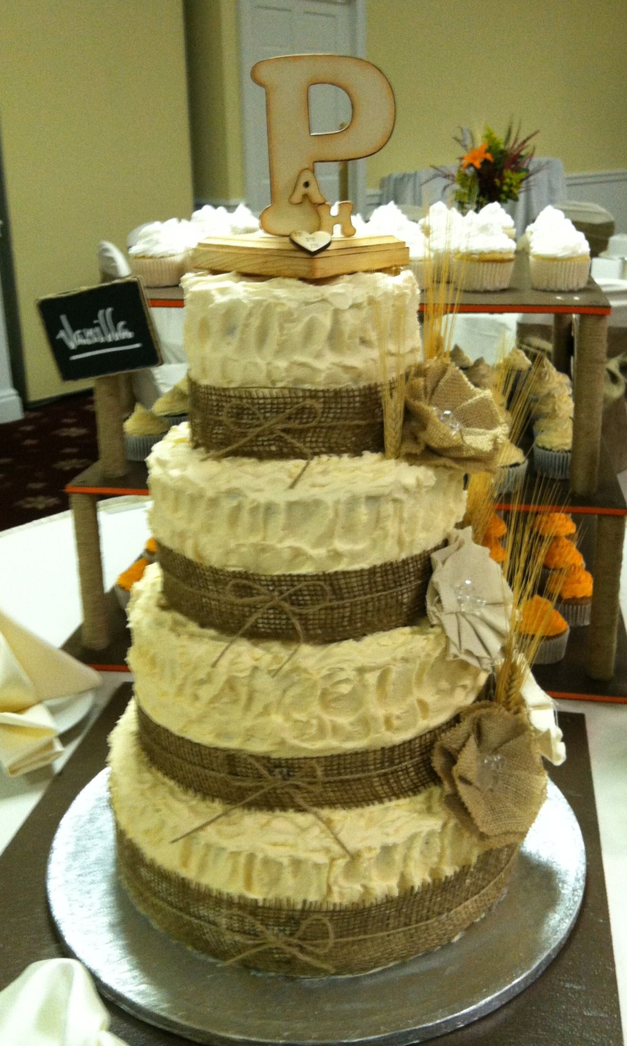 Burlap Wedding Wedding Cakes By Creative Baking