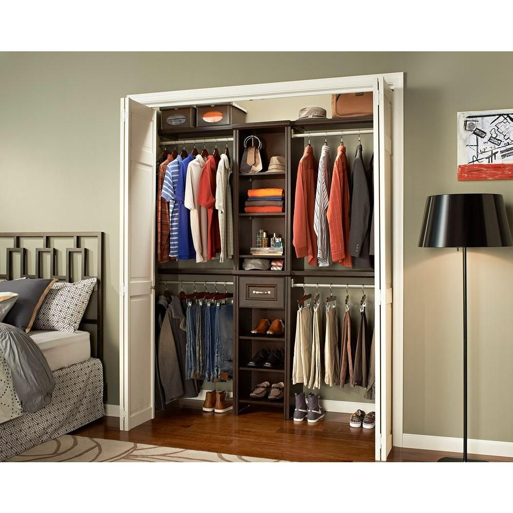 ClosetMaid Impressions 16 In. Chocolate Narrow Closet Kit   30851 At The Home  Depot