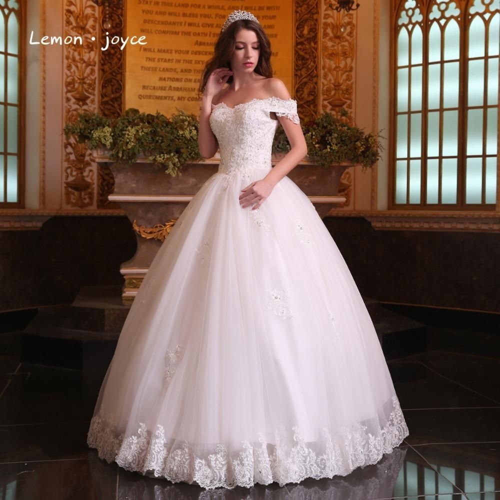 Gorgeous Sheer Ball Gown Wedding Dresses 2017 Puffy Beaded: Gorgeous Ball Gowns Wedding Dresses 2017 Boat Neck Puffy