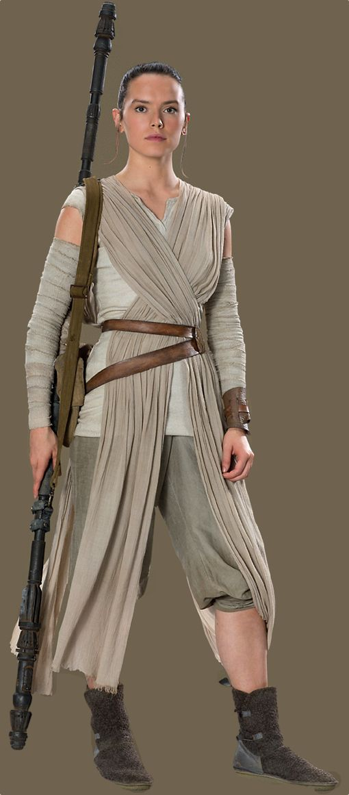 6d0731fc382 Rey from Star Wars: The Force Awakens | Rey | Trajes de películas ...