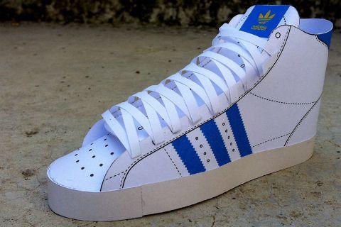 Schuh aus Papier basteln als Geschenkverpackung
