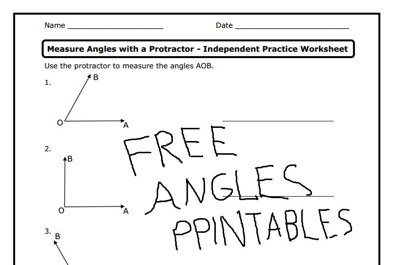 Free Angles Worksheets And Printables Teaching Upper Elementary Protractor Activities Teaching Math