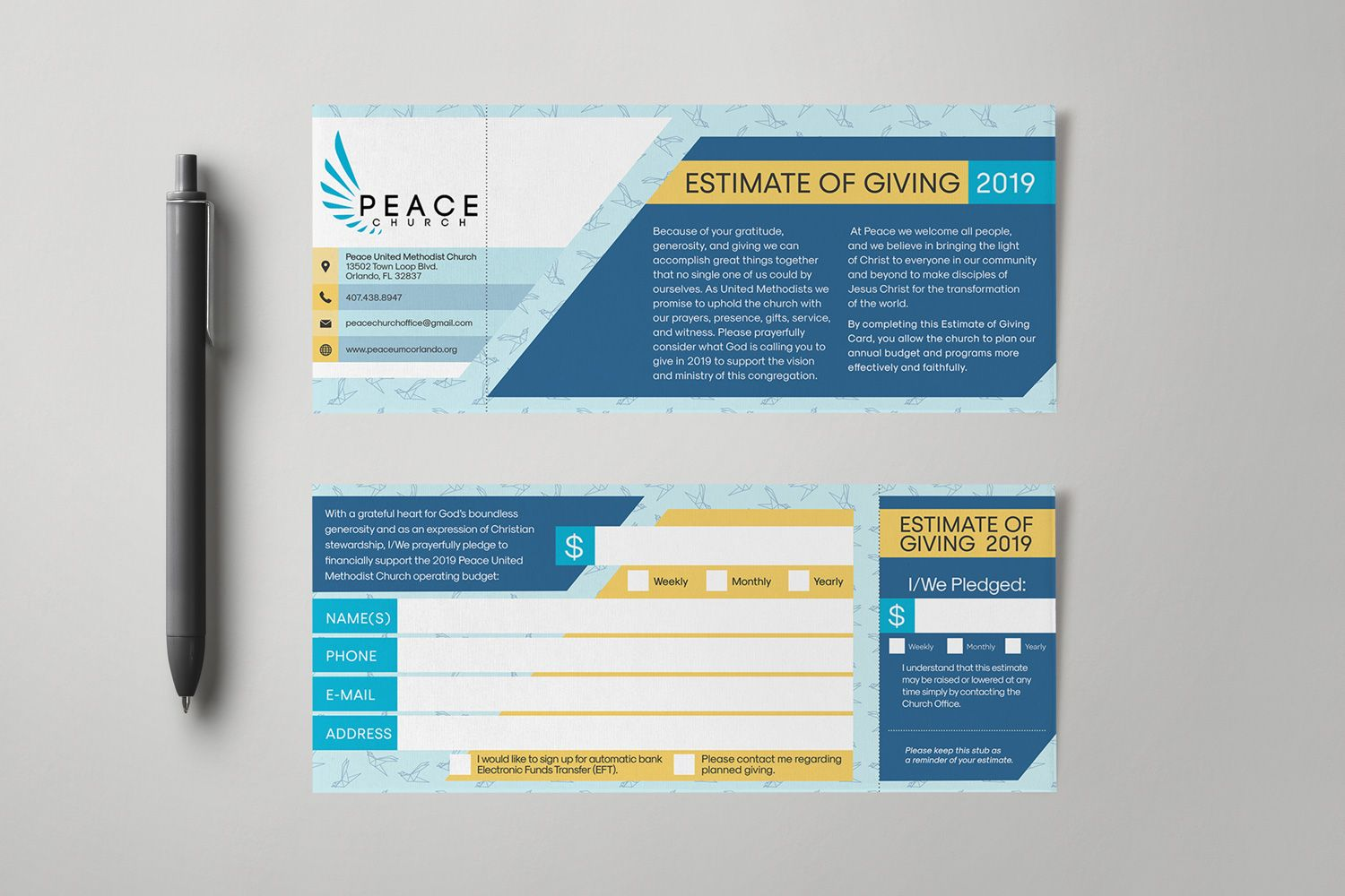 Church Pledge Card Template New Professional Template Card Template Business Template Card Design