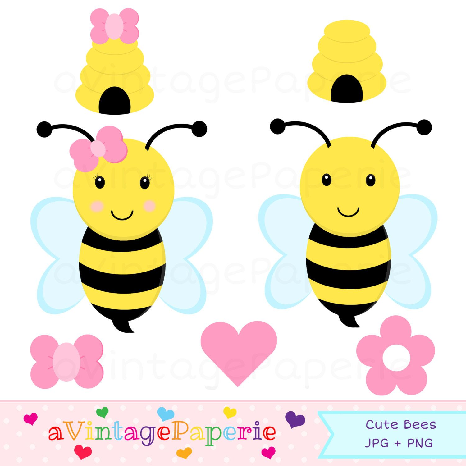 Bumble Bee Clipart Clip Art Commercial Use