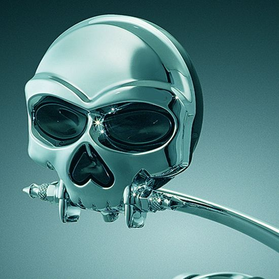 0f6b6a415b19 Skull Rearview Mirror--Would look great on your bike..
