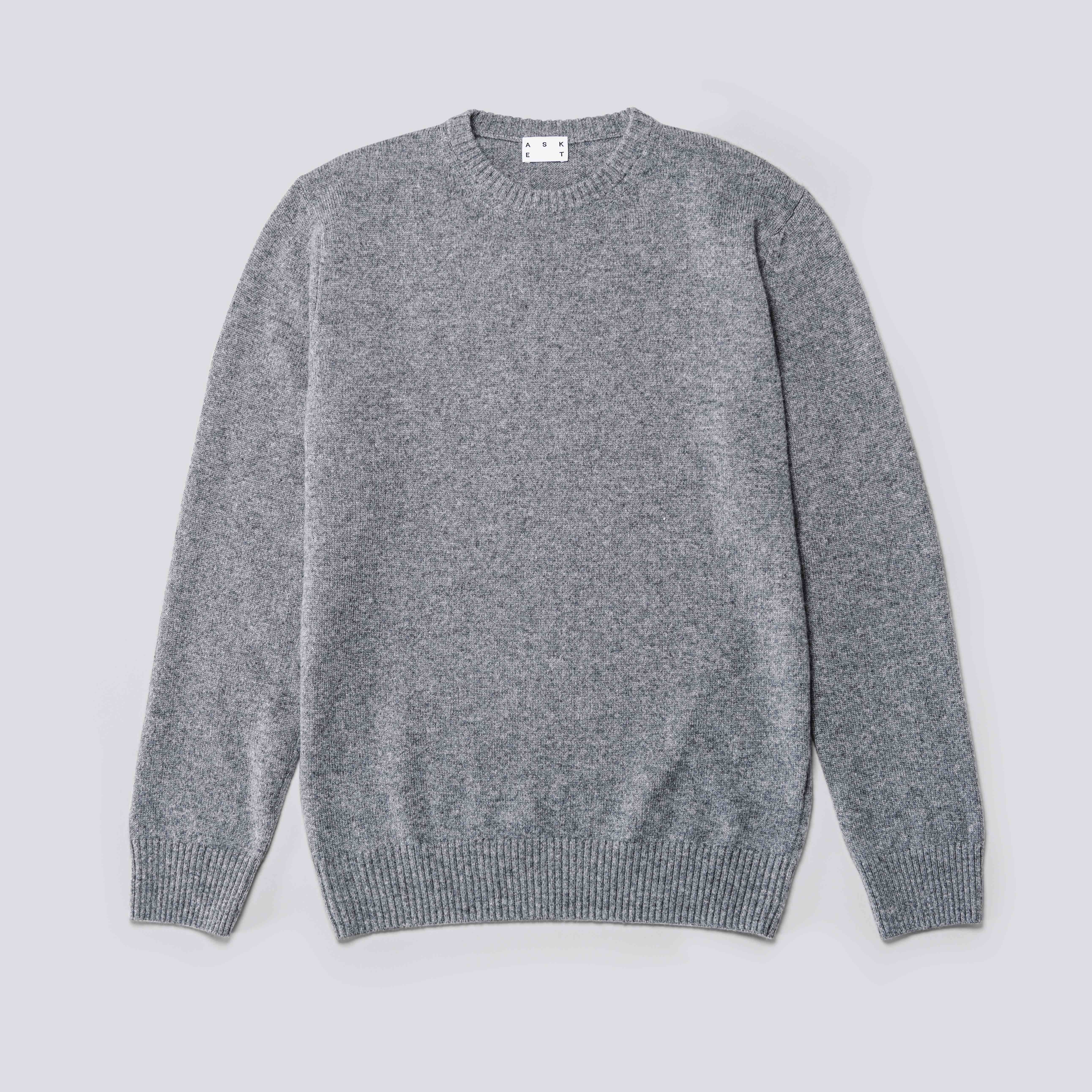 The Asket Dark Grey Cashmere Sweater | The ASKET Cashmere Sweater ...