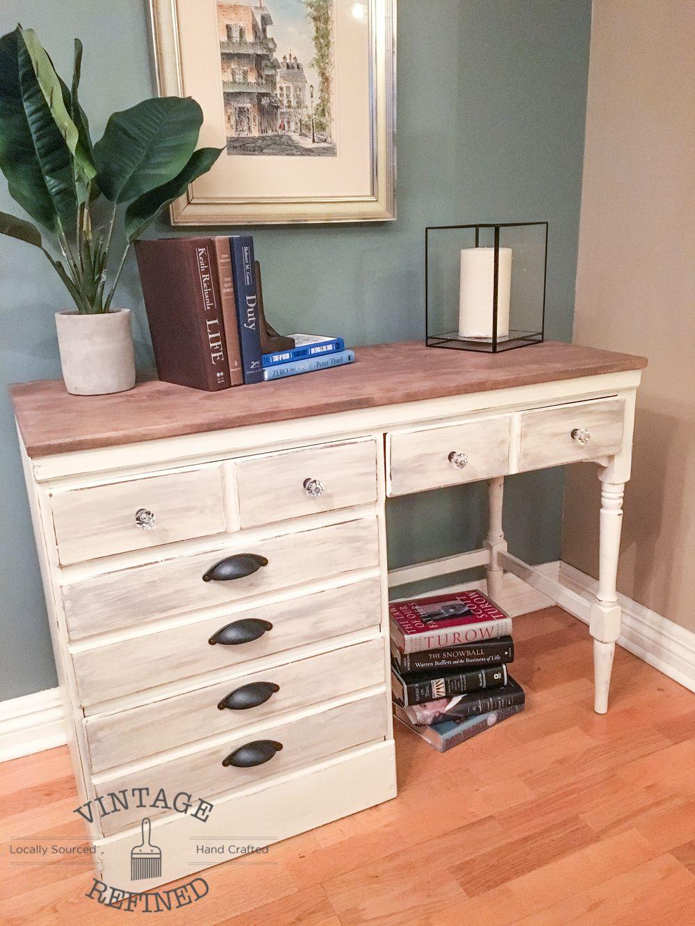 White Wood Desk Makeover White Wood Desk Desk Makeover Diy Vintage White Desk