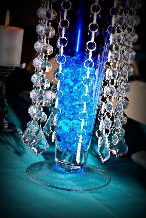 Quinceanera Centerpieces Blue Blue Centerpiece | Tif...