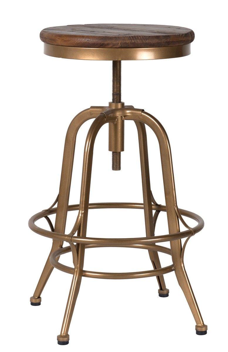 Peralta Counter Stool Brass Seating Furniture