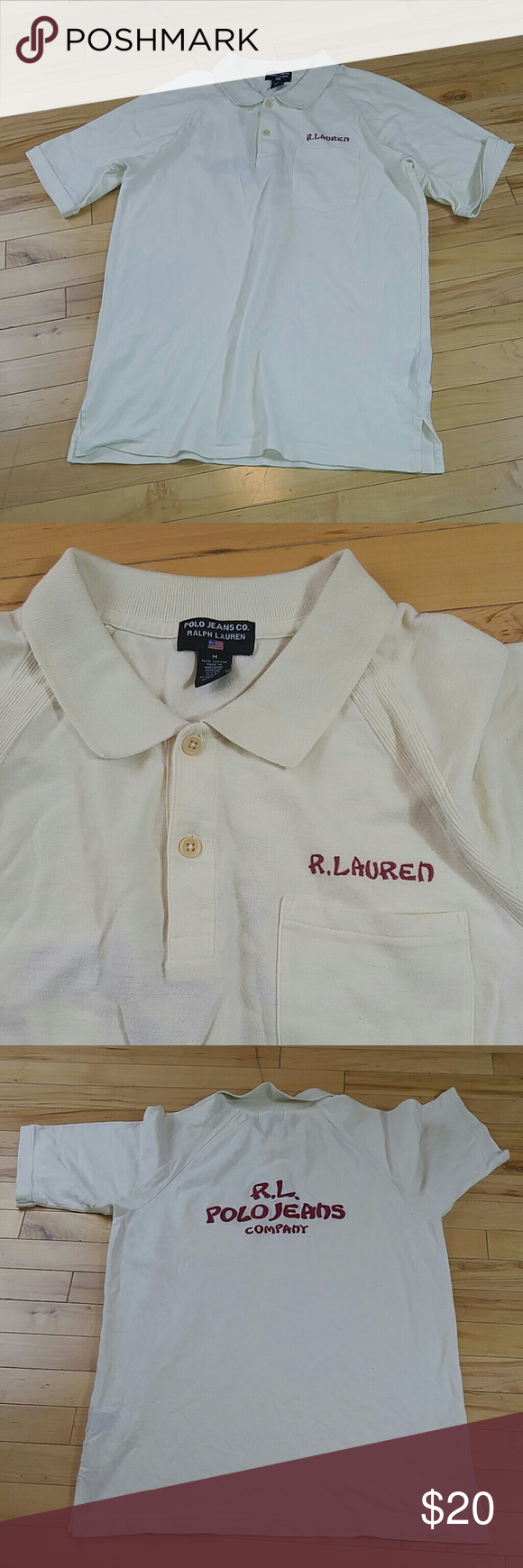 R.L. polo jeans company Ralph Lauren Polo size M Polo jean company Ralph lauren  White Polo great condition Polo by Ralph Lauren Shirts Polos