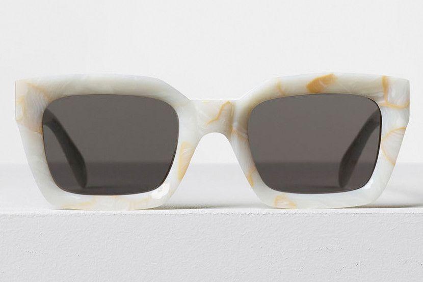 135f48a720 Celine - Kate White Marble Acetate Sunglasses