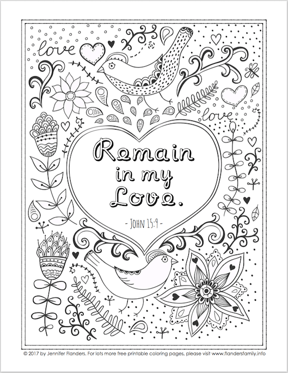 Free Bible Based Coloring Pages From Flandersfamily