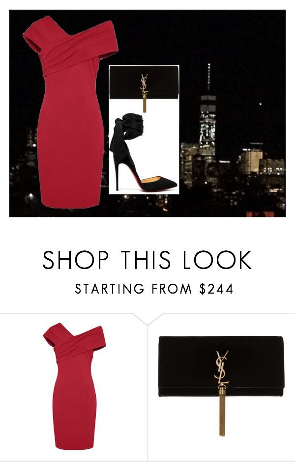 """""""evening corporate event"""" by milanasun on Polyvore featuring мода, Yves Saint Laurent и Christian Louboutin"""