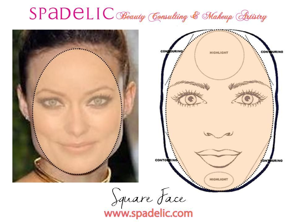 Highlight And Contour For Square Face Shape Spadelic Square