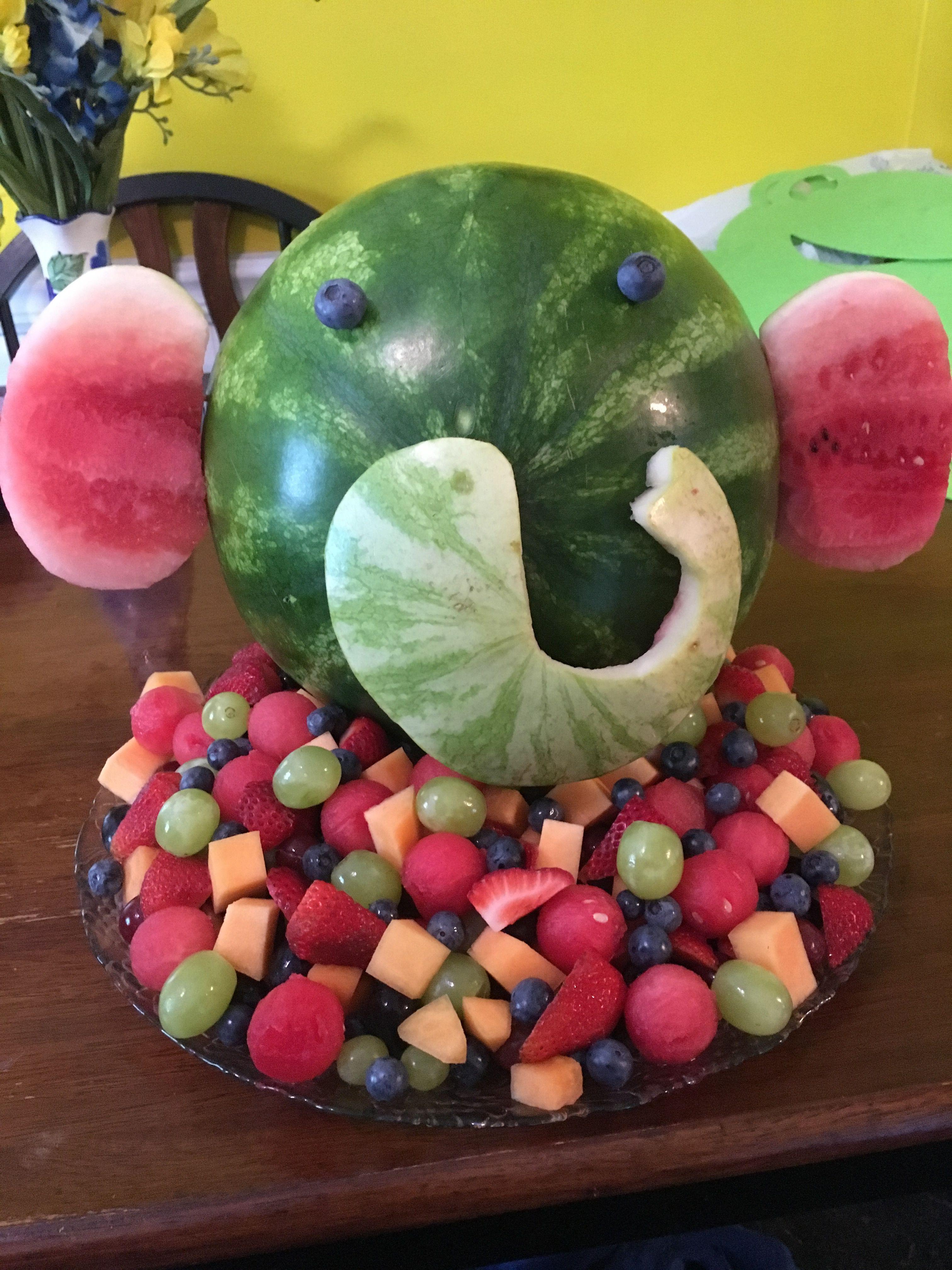Elephant baby shower fruit tray Fruit Pinterest
