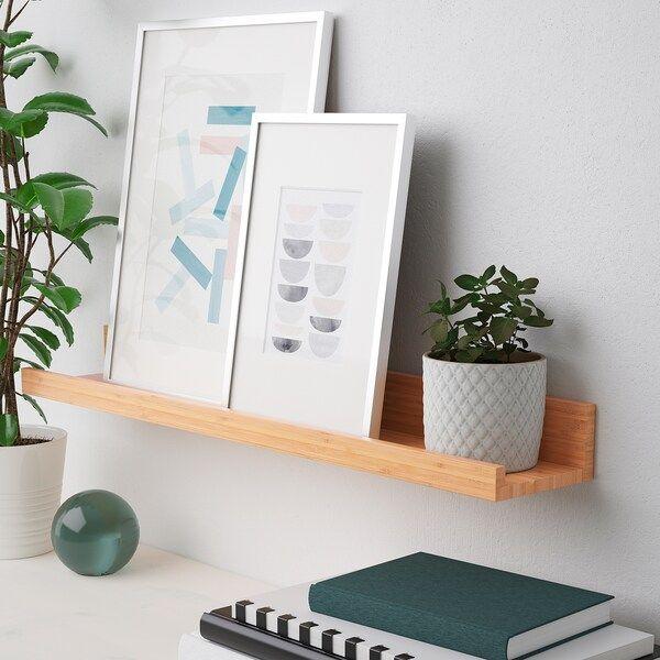 MÅLERÅS Tablette pour photos - bambou 75 cm en 2020 | Rebord d'images, Ikea, Bambou