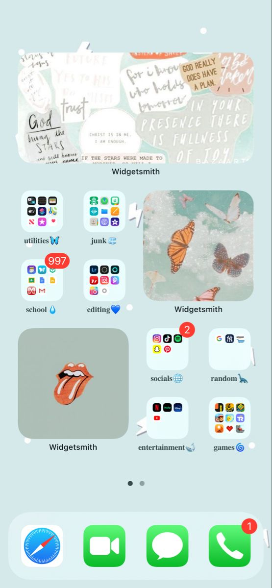 Ios 14 Home Screen Ideas In 2020 Iphone Organization Homescreen Instagram Wallpaper
