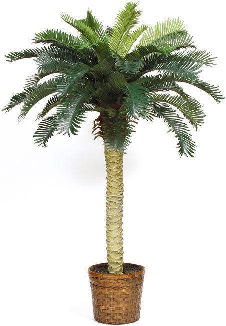 Sago Palm Silk Tree 4ft Nearlynatural Fake Palm Tree