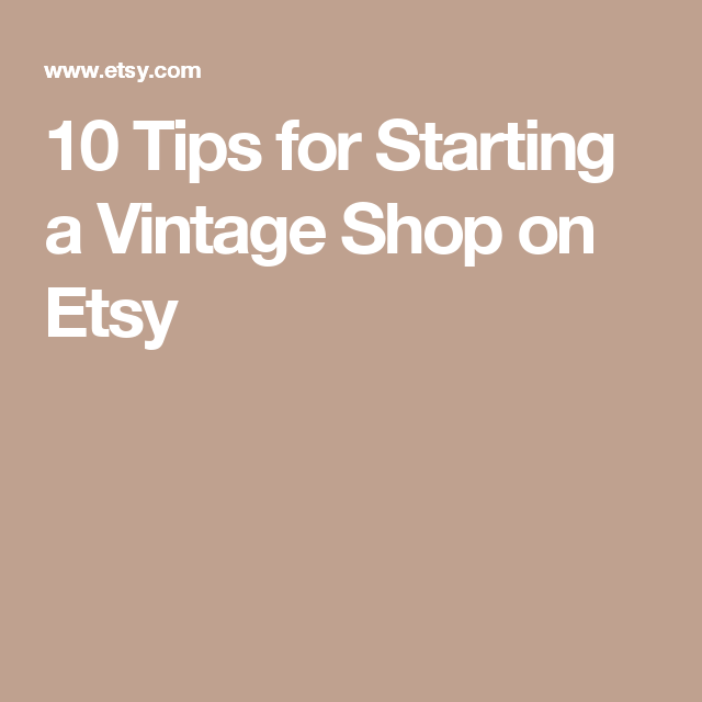 how to start a vintage online store