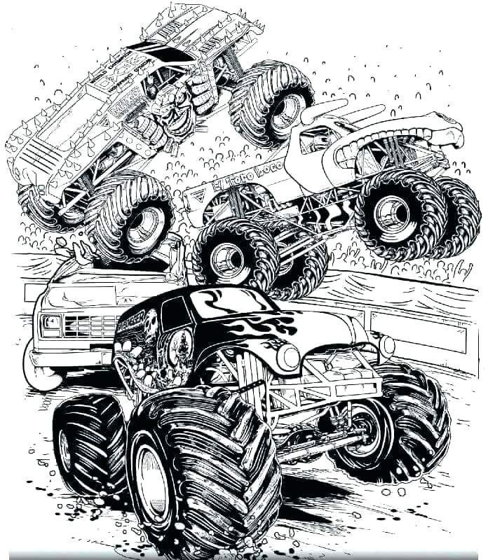 Monster Truck Coloring Pages Monster Truck Coloring Pages Truck Coloring Pages Abstract Coloring Pages