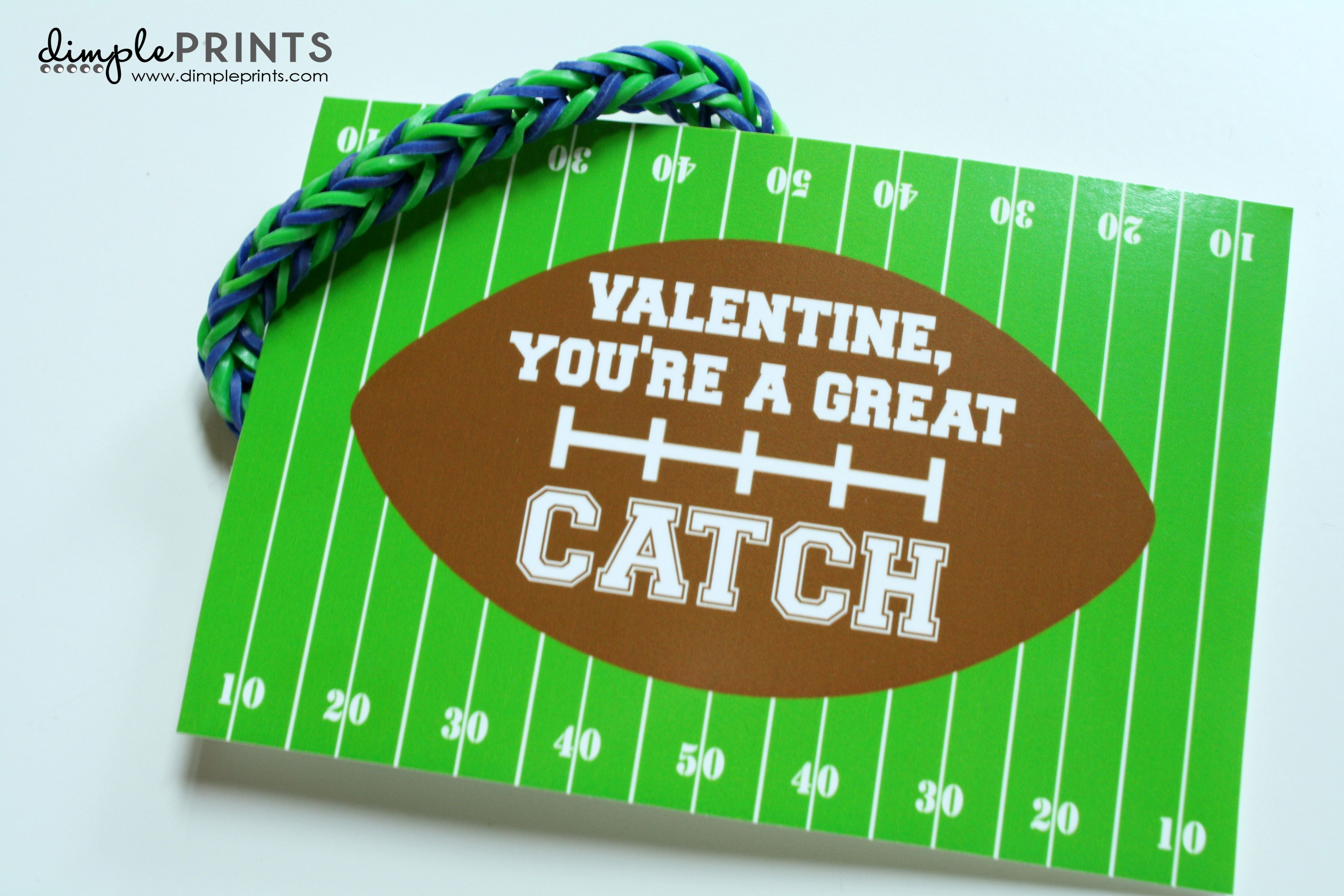Free Valentine's Day FOOTBALL prints from DimplePrints