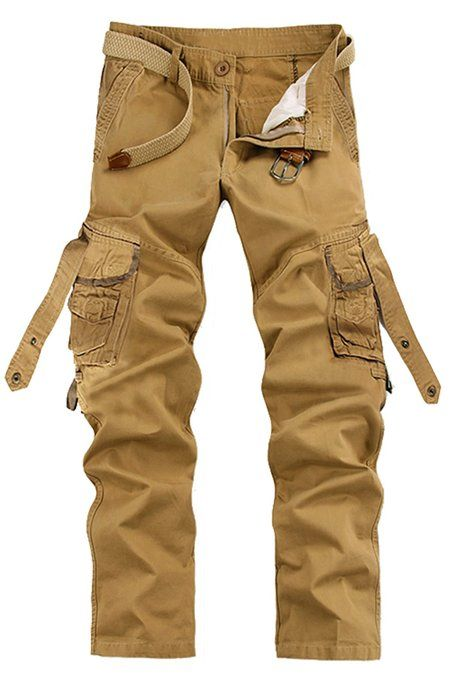 Mens Military outdoor colors Cargo Pants overall loose Leisure Trousers pockets
