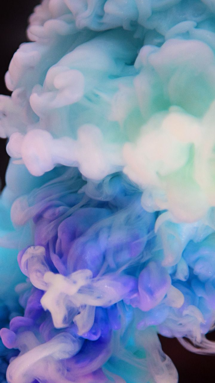 Ink Clouds Delicate Abstract 720x1280 Wallpaper