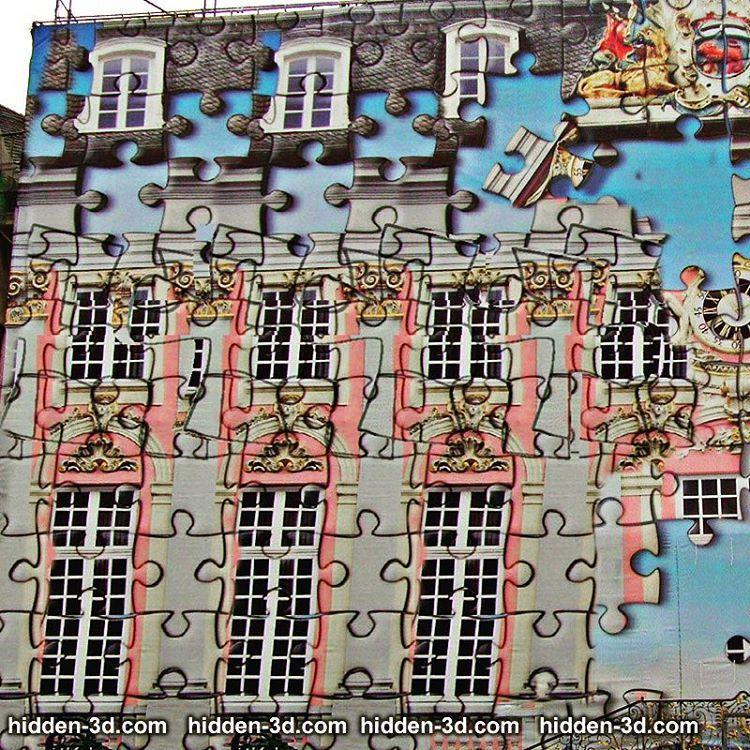 Puzzle Haus #3d #stereogram #hidden3d #magiceye # ...