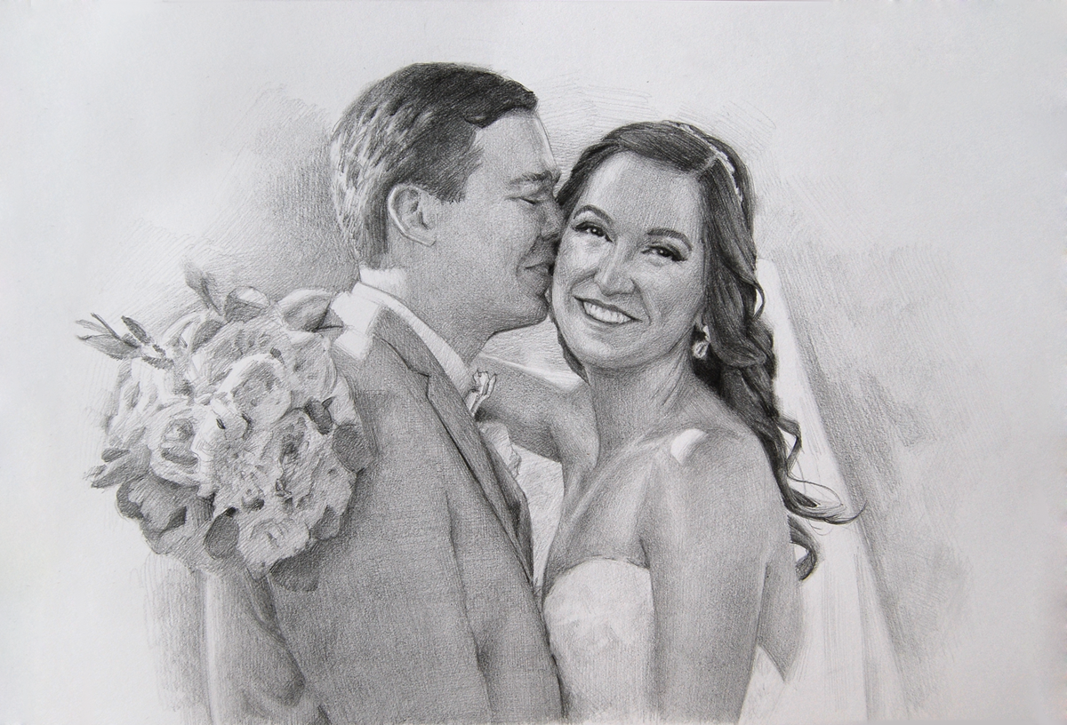 150 custom couple portrait wedding anniversary gift for her for him couple pencil drawing romantic gift personalized gift art sketch from photo