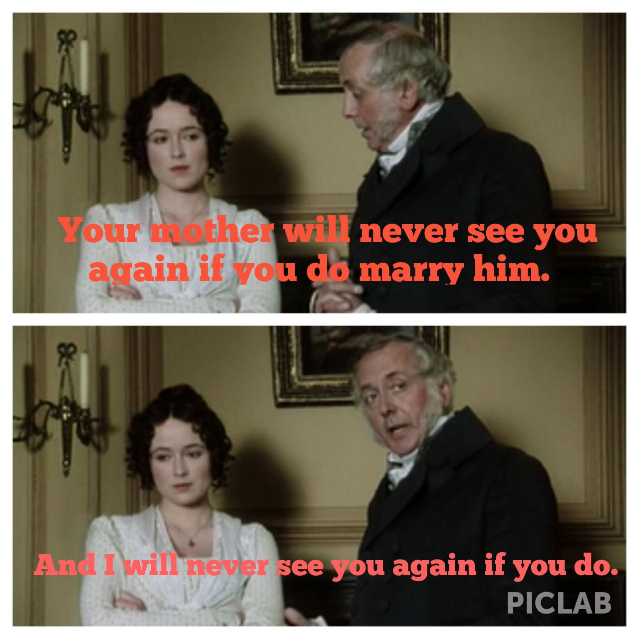 Pride and Prejudice...one of my favorite lines!