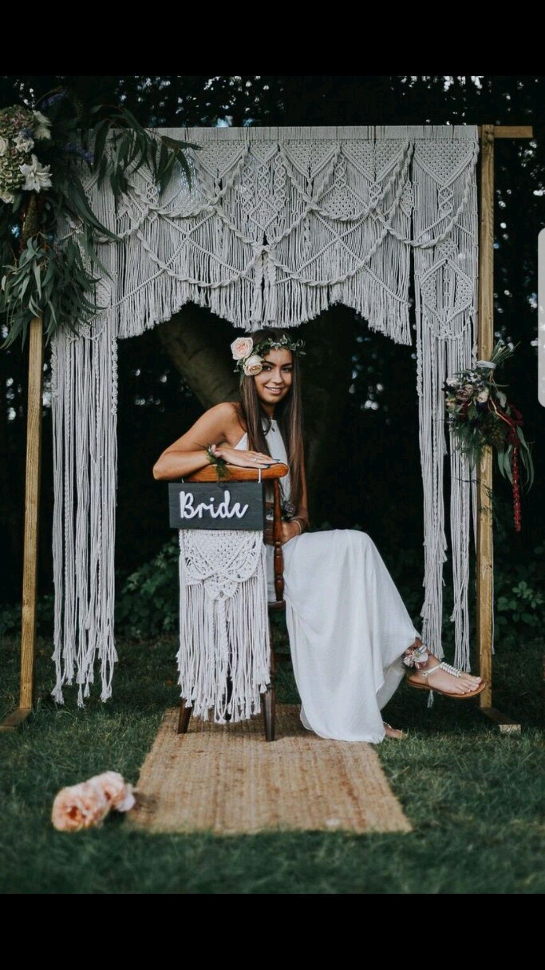 Macrame wedding arch made by Little White Attic little white attic