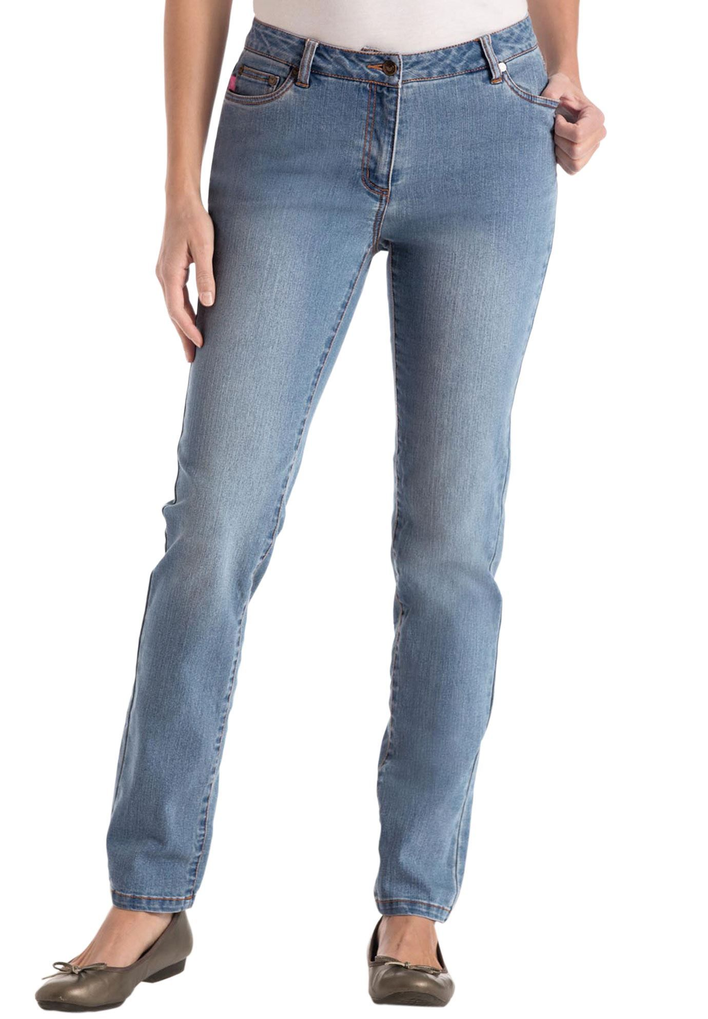 Plus Size Tall jean, skinny, stretch, tapered leg, 5-pocket ...
