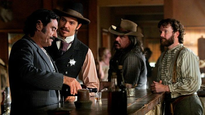 The modern movie of Deadwood is very similar to the Old Wild West