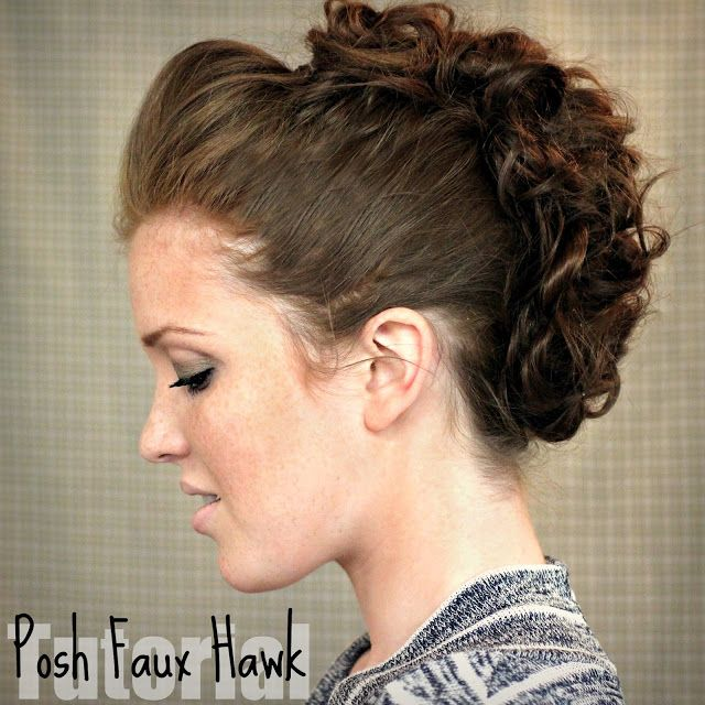 Posh faux hawk tutorial - I did this with my hair during the holidays and got many compliments !