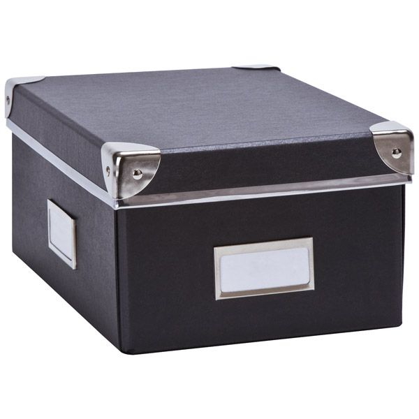 office file boxes. Bigso™ Snap-Up Check File Box Graphite Office Boxes C
