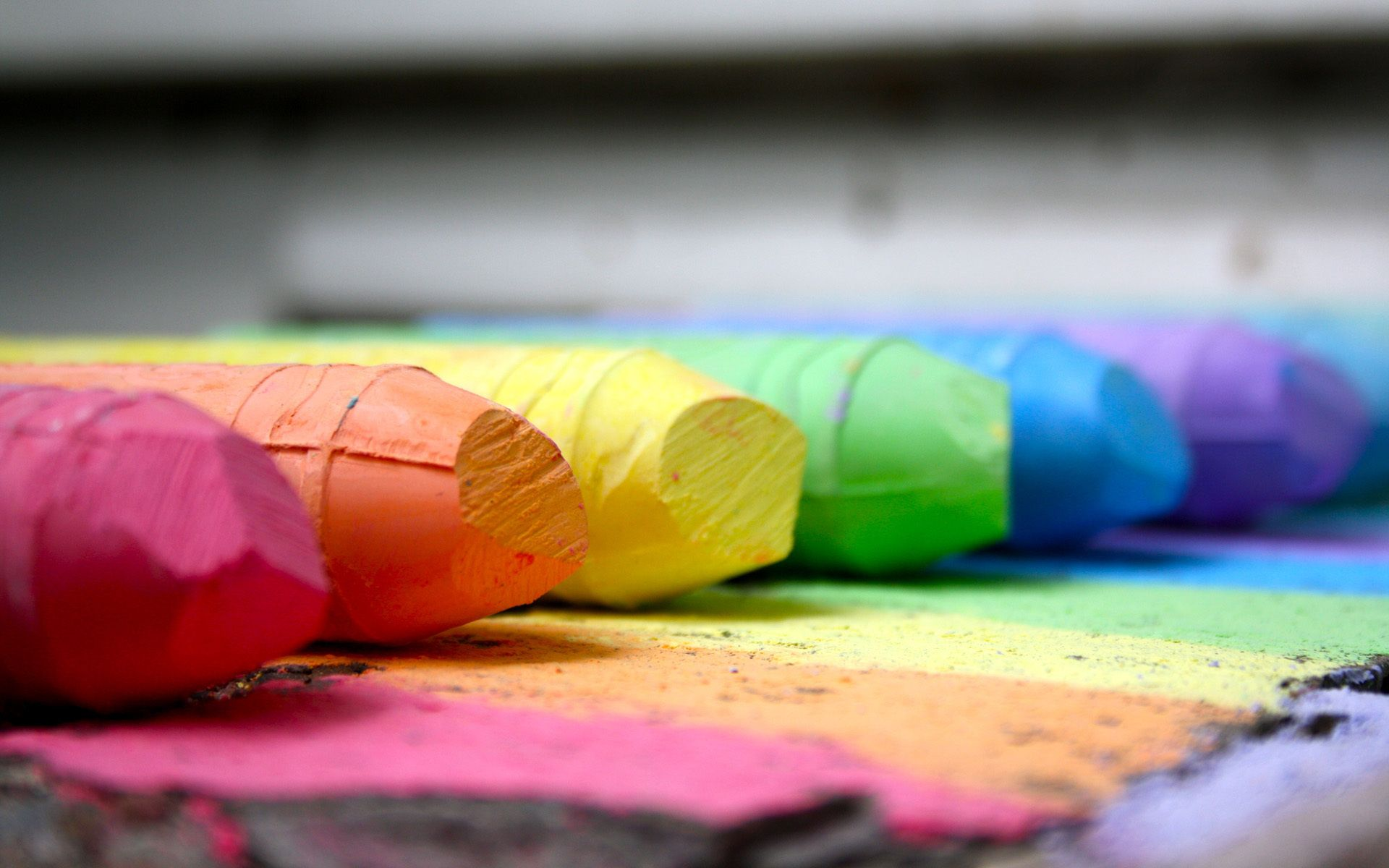 Colors Of The Rainbow Colors Rainbow Chalk Free