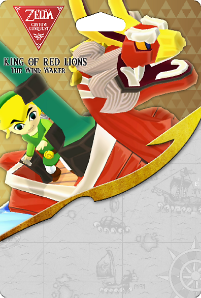 Custom Conquest Wind Waker King Of Red Lions Toon