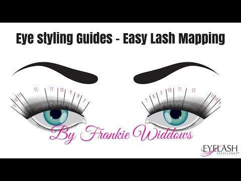 d04d4268bd8 EYE STYLING - EASY LASH MAPPING GUIDES - YouTube | lashes | Eyelash ...