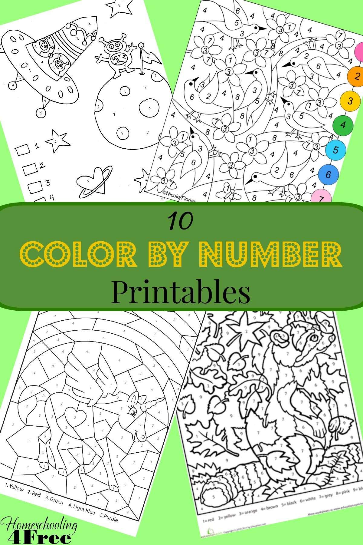 Here are 10 awesome Color By Number Printables that work for all ...