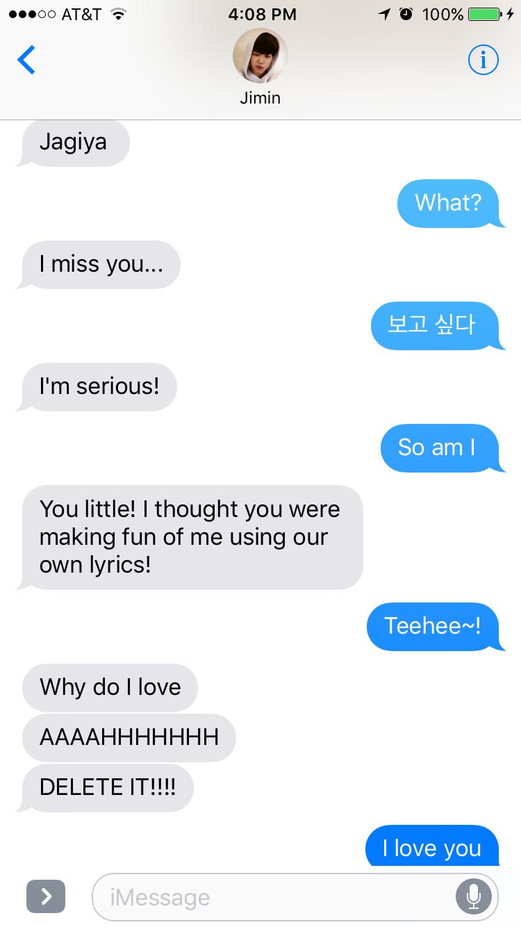Jimin text message Imagine part 1 | BTS Imagines | Bts texts, Bts