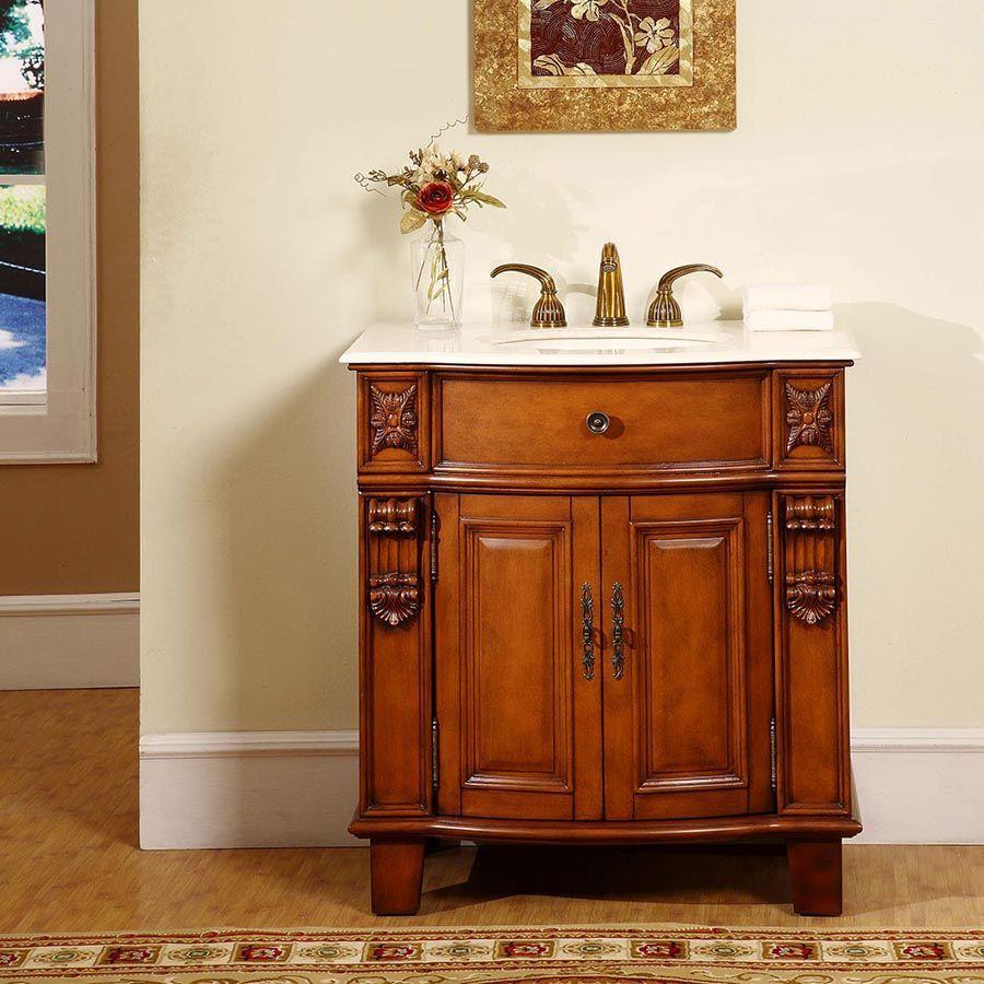Silkroad Exclusive Hyp 0204 Cm Uic 33 Savannah 33 Single Bathroom Vanity Set Single Sink Bathroom Vanity Bathroom Sink Vanity Beautiful Bathroom Vanity