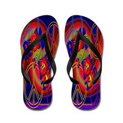 927cf3486cc3 Sixties 1960 s Peace and Love Flip Flops. To see these Flip Flop Sandals  and many more to choose from
