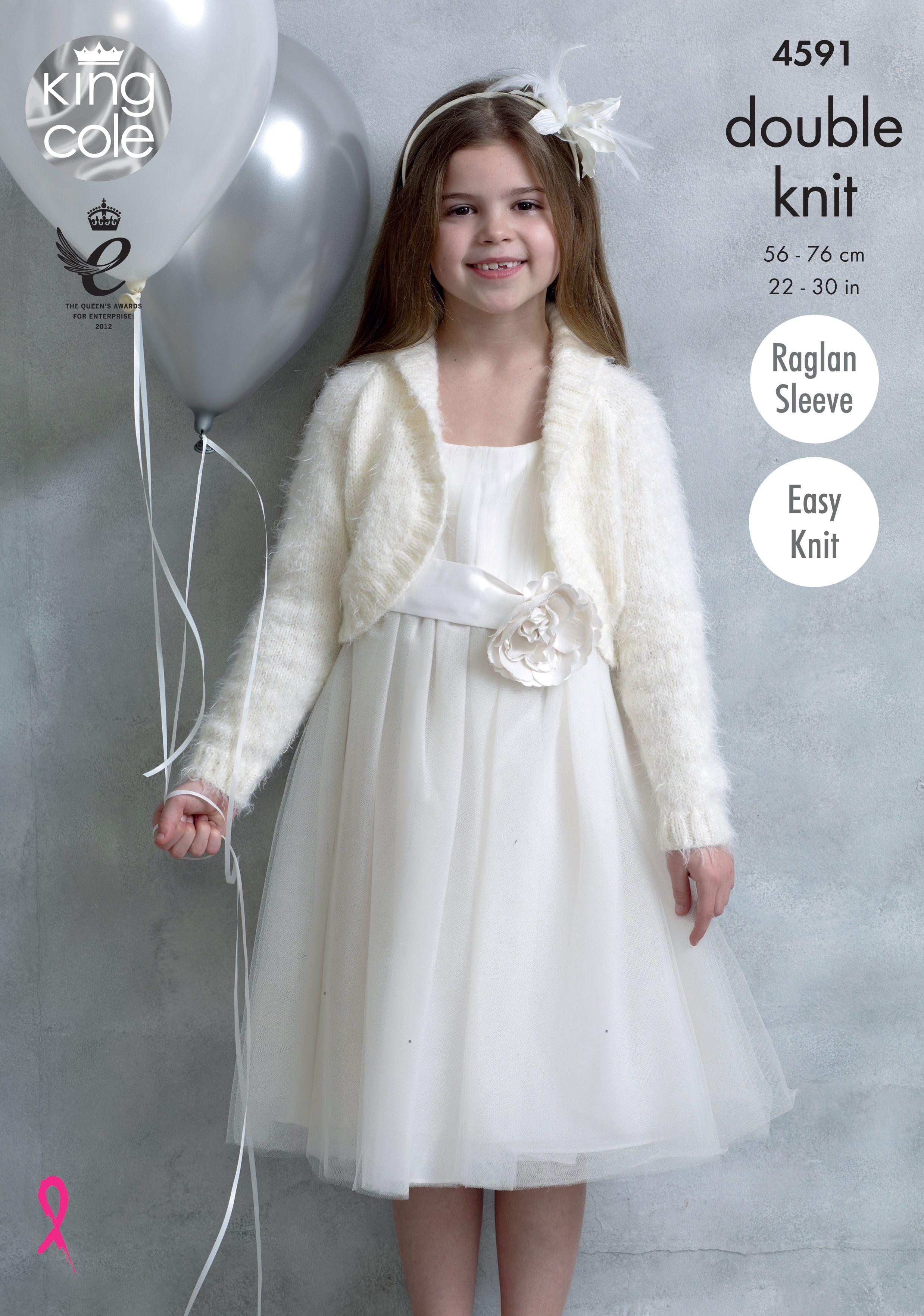 Childrens Knitted Boleros - King Cole   Embrace   Pinterest ...