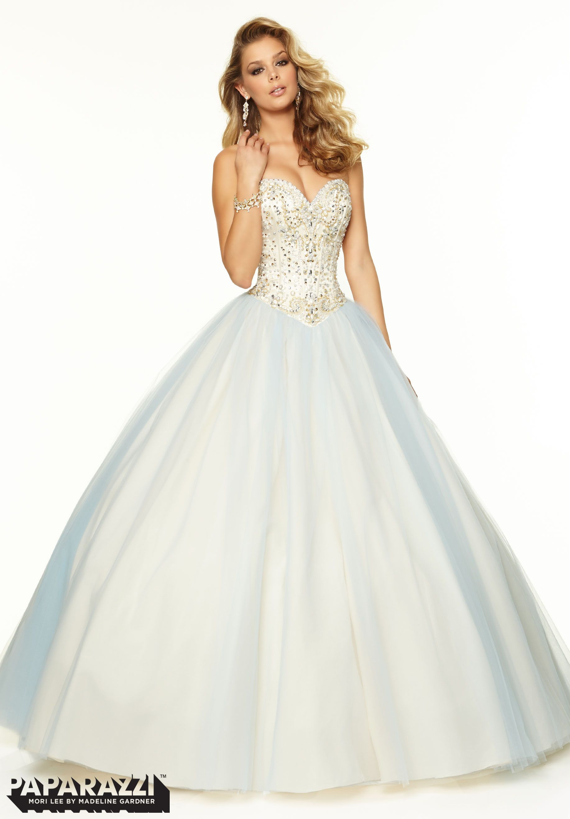 Prom dresses gowns style beaded satin and tulle ballgown