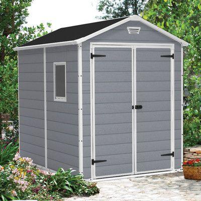 Keter Manor 6 Ft W X 8 Ft D Resin Storage Shed Abri De Jardin Abri De Stockage Rangement Jardin