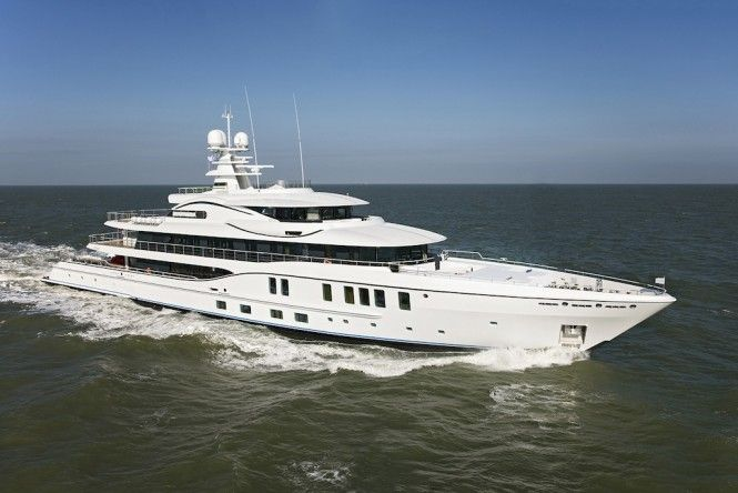 74m AMELS 242 Mega Yacht Under Sea Trials