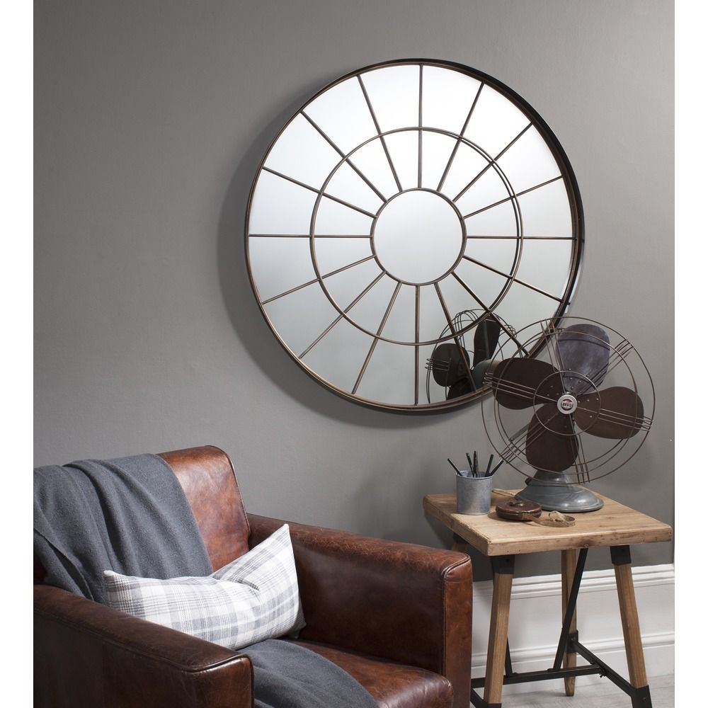 Battersea Industrial Window Wall Mirror Living Room Mir