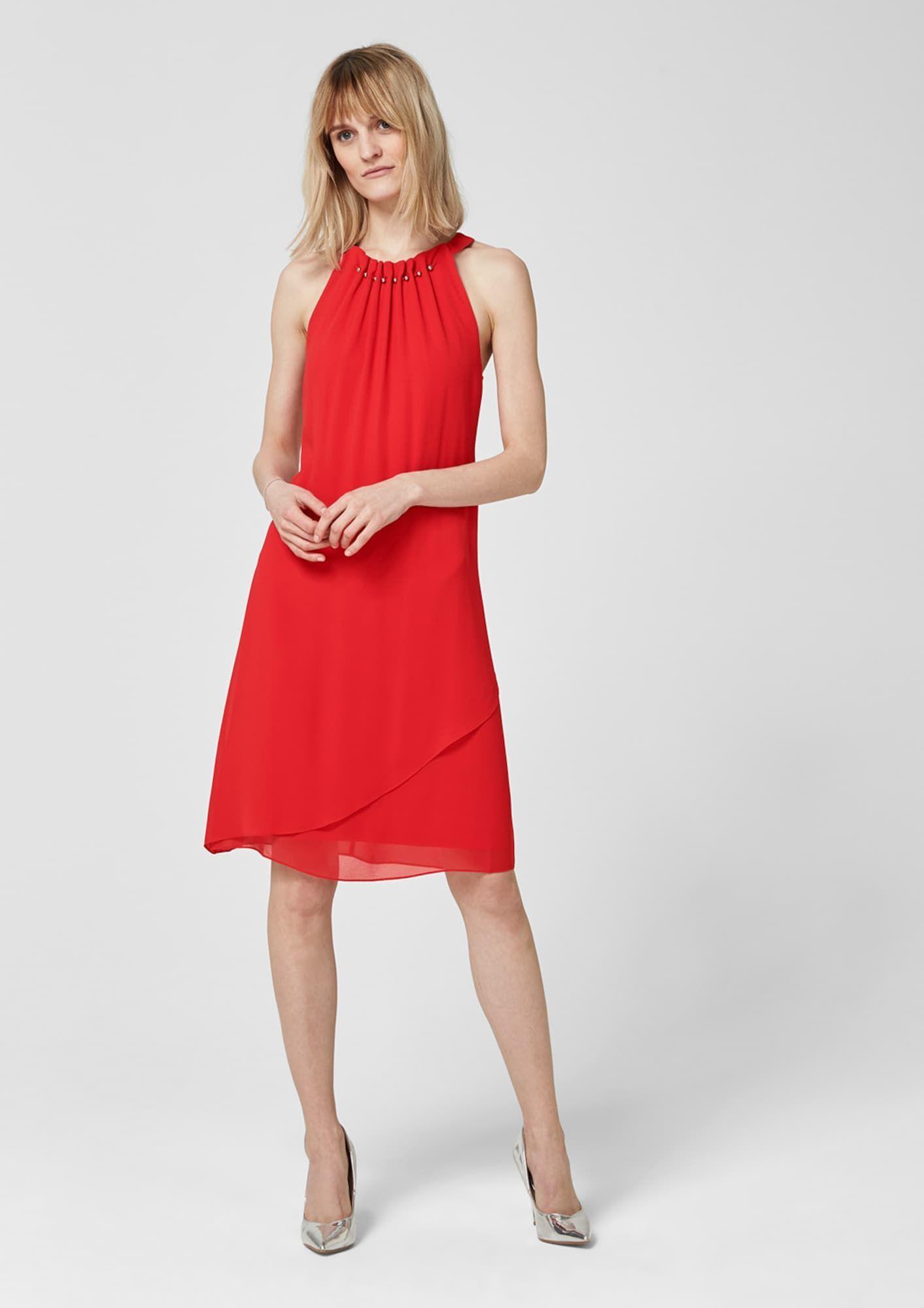 S.Oliver BLACK LABEL Kleid Damen, Rot, Größe 15 in 15  Chiffon