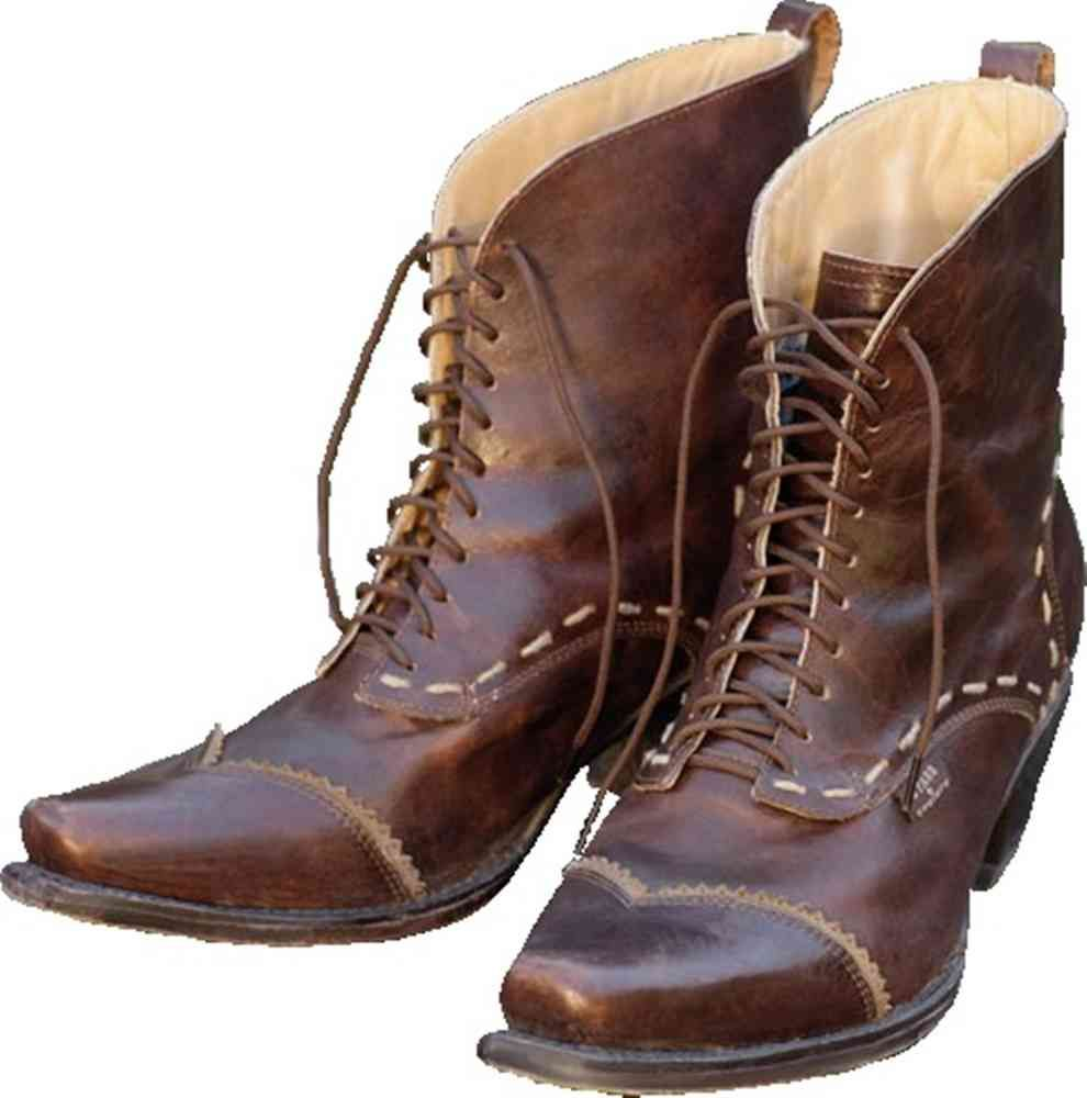 Damen Schnürstiefel Ashley Westernstiefel Leder braun